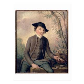 A Young Man Gutting Fish, 1782 (panel) Postcard