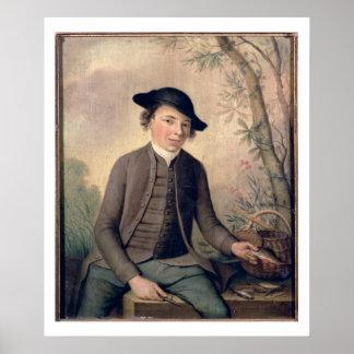 A Young Man Gutting Fish, 1782 (panel) Print