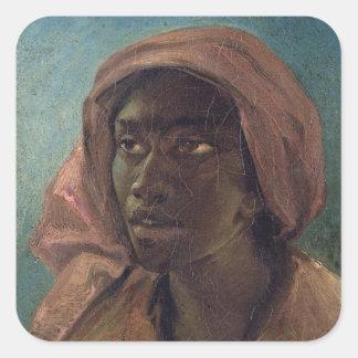 A Young Negro Woman Square Sticker