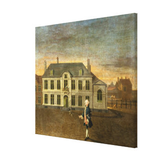 A Young Nobleman Standing before a Mansion (see al Gallery Wrapped Canvas