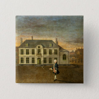 A Young Nobleman Standing before a Mansion (see al Pinback Button