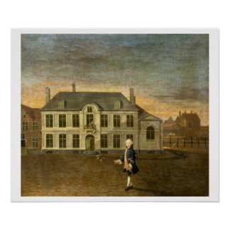 A Young Nobleman Standing before a Mansion (see al Poster