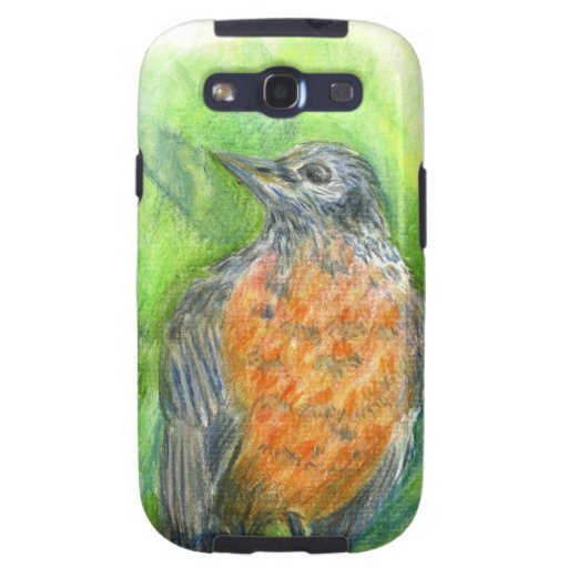 A Young Robin - watercolor pencil Samsung Galaxy S3 Covers