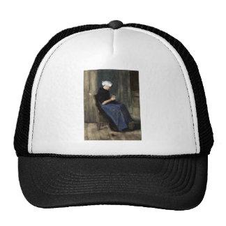 A Young Scheveningen Woman Knitting Trucker Hat