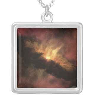 A young star silver plated necklace
