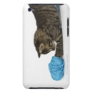 A young Tabby kitten playing with wool Case-Mate iPod Touch Case