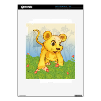 A young tiger in the forest iPad 2 skin