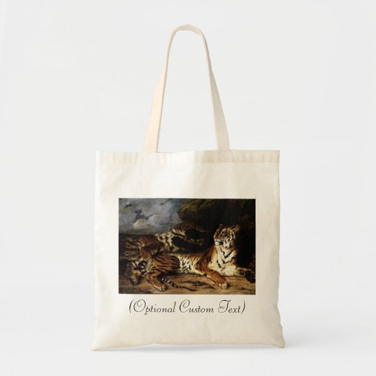 A Young Tiger with its Mother Tote Bag