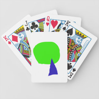 A Young Tree, a Dead Tree, and a Red Snake Bicycle Playing Cards