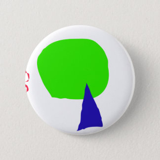 A Young Tree, a Dead Tree, and a Red Snake Pinback Button