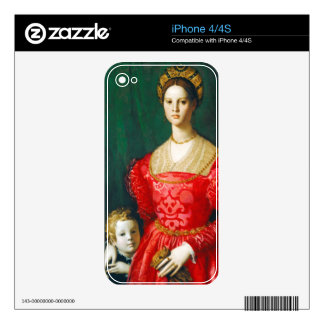 A Young Woman and Her Little Boy c 1540 Decals For The iPhone 4S