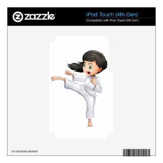 A young woman doing karate iPod touch 4G skins