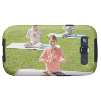 A young woman doing yoga samsung galaxy SIII cases