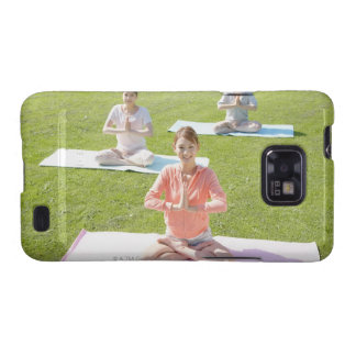 A young woman doing yoga samsung galaxy SII covers