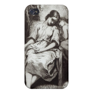 A Young Woman Dozing with an Angel Case For iPhone 4