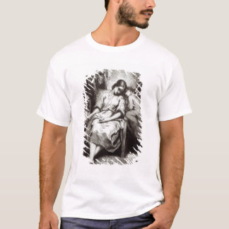 A Young Woman Dozing with an Angel T-Shirt