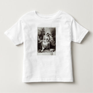 A Young Woman Dozing with an Angel Toddler T-shirt
