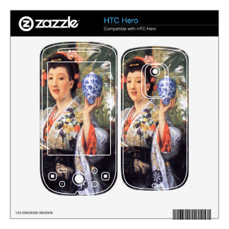 A young woman holds Japanese goods by James Tissot Decals For The HTC Hero