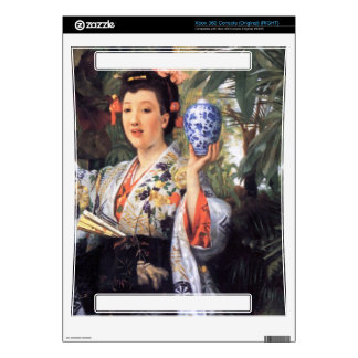 A young woman holds Japanese goods by James Tissot Skin For Xbox 360 Console