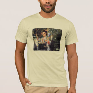 A young woman holds Japanese goods by James Tissot T-Shirt