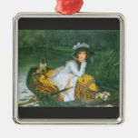 A young woman in a boat by James Tissot Ornament