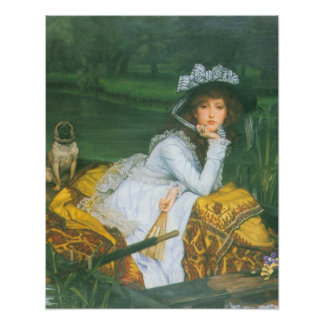 A young woman in a boat by James Tissot Posters