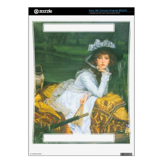 A young woman in a boat by James Tissot Xbox 360 Console Skin