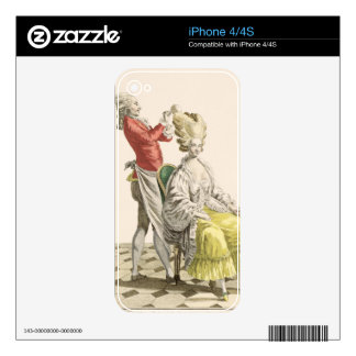 A Young Woman in a Peignoir with her Hairdresser, Skin For The iPhone 4S