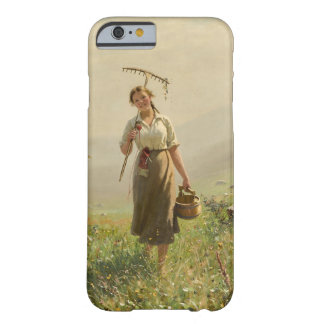 A young woman in the meadow by Hans Dahl Barely There iPhone 6 Case