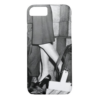 A youngster, clutching his soldier_War Image iPhone 8/7 Case