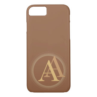 """""""A&"""" your monogram on """"iced coffee"""" color iPhone 7 Case"""