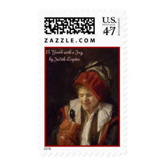 A Youth with a Jug, by Judith Leyster Postage
