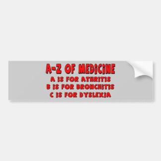 A-Z de la dislexia Etiqueta De Parachoque