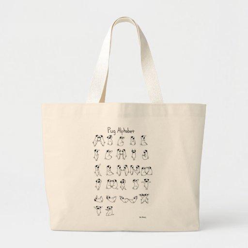 A-Z del alfabeto del barro amasado Bolsa