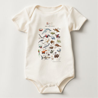 A-Z of amazing animals Baby Bodysuit