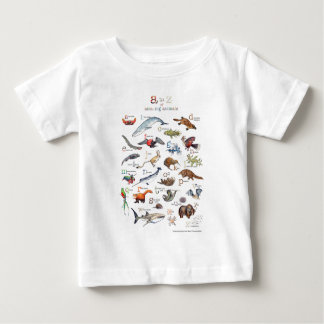 A-Z of amazing animals Baby T-Shirt