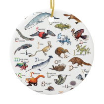 A-Z of amazing animals Ceramic Ornament