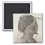 A Zandeh from The History of Mankind Refrigerator Magnet