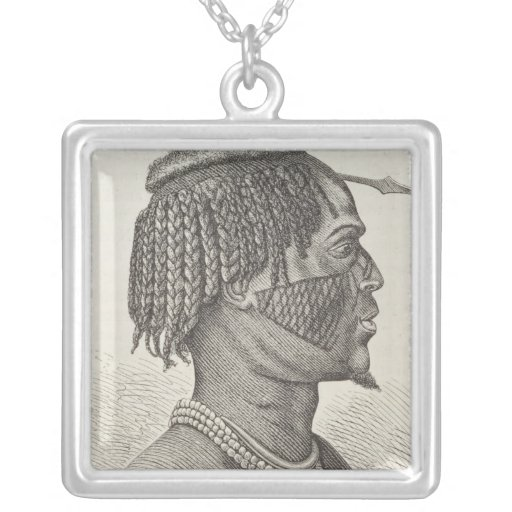 A Zandeh from The History of Mankind Personalized Necklace