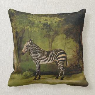 A Zebra, 1763 (oil on canvas) Pillow