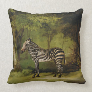 A Zebra, 1763 (oil on canvas) Throw Pillow