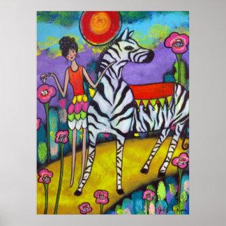 A Zebra Tea Party Poster