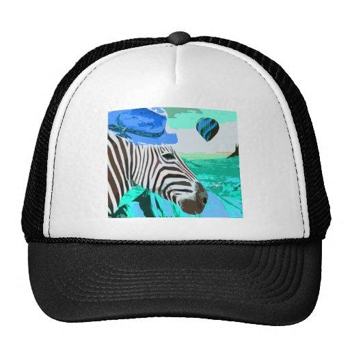 a zebra visits the desert revisited mesh hat