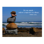 A zen thing with Buddhist saying Postcard