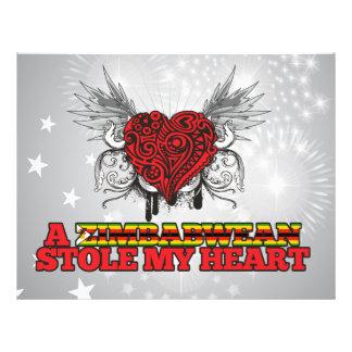 A Zimbabwean Stole my Heart Flyer Design