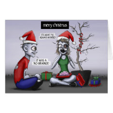 A Zombie Christmas Card at Zazzle
