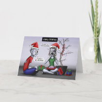 A Zombie Christmas Holiday Card