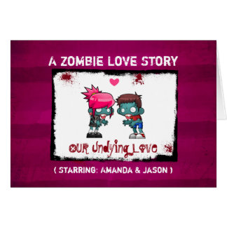 A Zombie Love Story Valentine's Day Card
