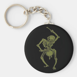 A Zombie Undead Skeleton Marching and Beating A Dr Keychain