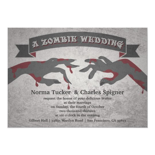 A Zombie Wedding Invitation